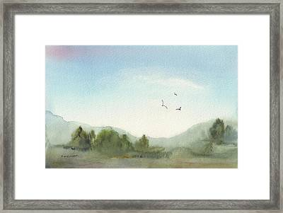 Morning Meadow Framed Print by Shirley Mercer
