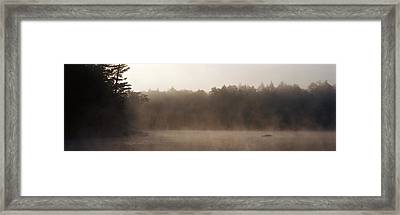 Morning Mist Adirondack State Park Old Framed Print by Panoramic Images