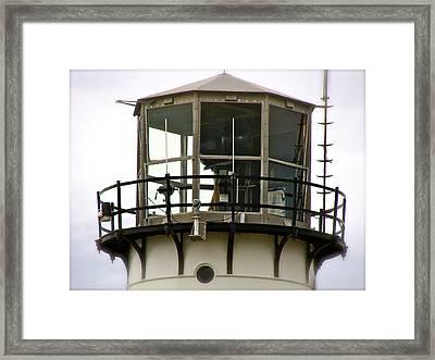 Morning Mist At Chatham Light Framed Print by Ira Shander