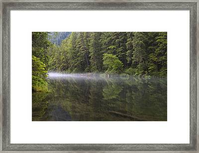 Morning Mist At Redoubt Framed Print