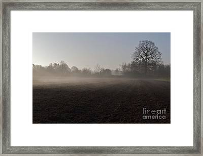 Framed Print featuring the photograph Morning Mist  by Gary Bridger