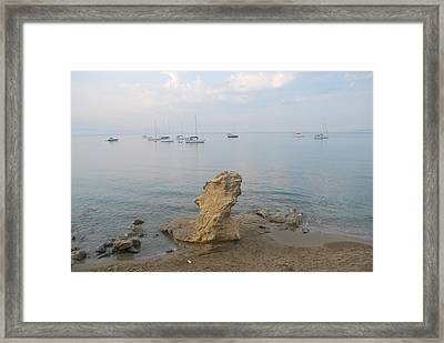 Framed Print featuring the photograph Morning Mist 2 by George Katechis