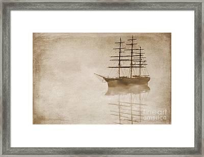Morning Mist In Sepia Framed Print