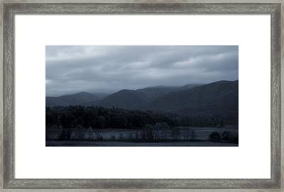 Morning Mist In The Mountains Framed Print