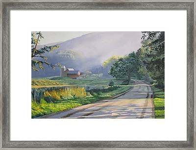 Morning Mist Framed Print by Kenneth Young