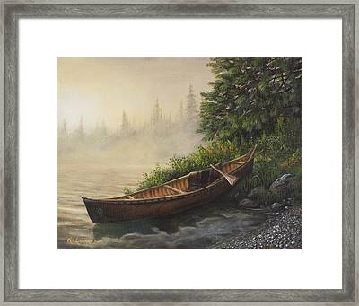 Morning Mist Framed Print by Kim Lockman