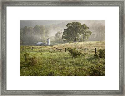 Morning Mist Framed Print by Mike Lang