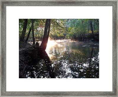 Morning Mist On The River  Framed Print by Rick Todaro