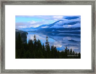 Morning Mist Rising Framed Print