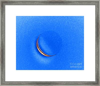 Morning Moon Blue Framed Print by Al Powell Photography USA