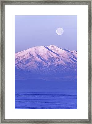 Morning Moon Framed Print by Chad Dutson