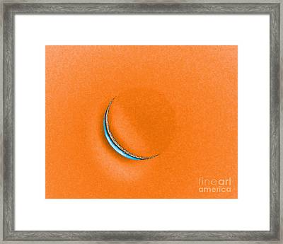 Morning Moon Orange Framed Print by Al Powell Photography USA