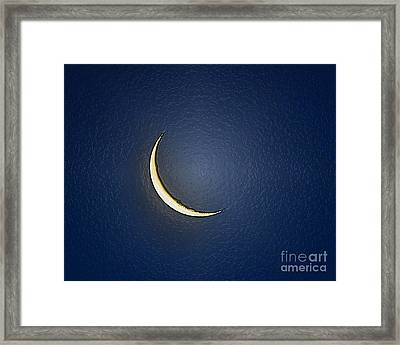 Morning Moon Textured Framed Print by Al Powell Photography USA