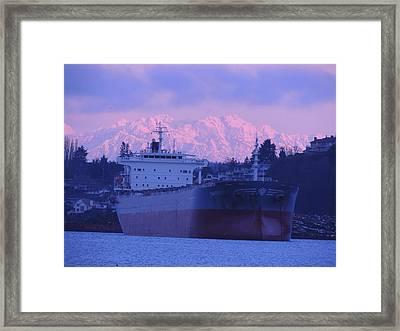 Morning Moorage Framed Print