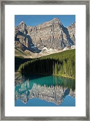 Morning, Moraine Lake, Reflection Framed Print by Michel Hersen