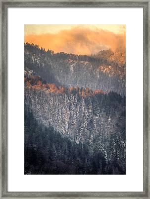 Framed Print featuring the photograph Morning Mountains II by Rebecca Hiatt