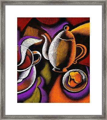 Morning Muffin Framed Print by Leon Zernitsky