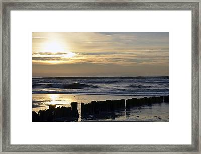 Morning Ocean Rockaway Beach 3 Framed Print