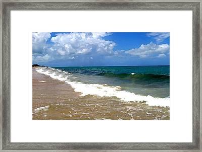 Morning On Boynton Beach 1 Framed Print by Shawn Lyte
