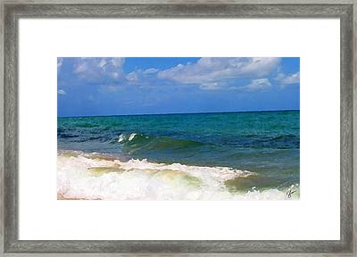 Morning On Boynton Beach 2 Framed Print by Shawn Lyte