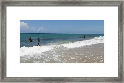 Morning On Boynton Beach 4 Framed Print by Shawn Lyte