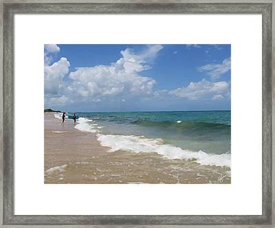 Morning On Boynton Beach 5 Framed Print by Shawn Lyte