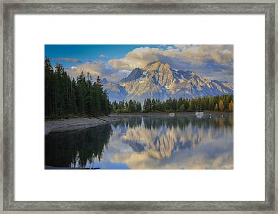 Morning On Colter Bay Framed Print by Michael Schwartz