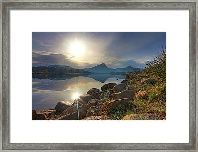 Morning On Lake Estes Framed Print