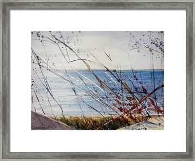 Morning On Lake Michigan Framed Print