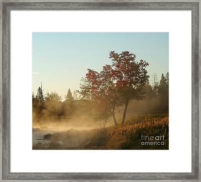 Morning On Middle River Framed Print