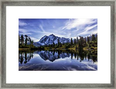 Morning On Mt Shuksan  Framed Print