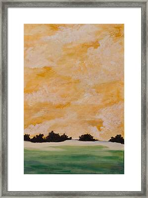 Morning On Shell Island Framed Print by April Moran