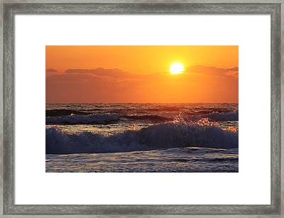 Morning On The Beach Framed Print by Bruce Bley