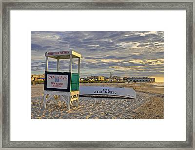 Morning On The Beach Framed Print