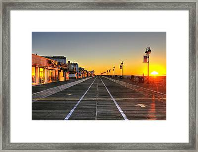 Morning On The Boardwalk 2 Framed Print