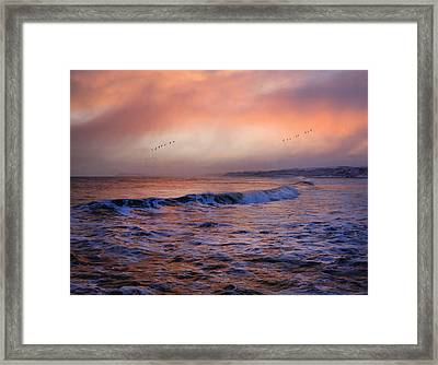 Framed Print featuring the photograph Morning On The Coast by Roy  McPeak