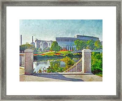 The Horseshoe By Morning Light. The Ohio State University Framed Print