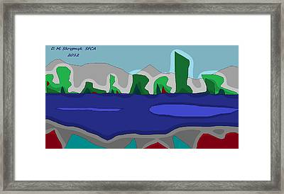 Morning On The Fraser River Near Maple Ridge Framed Print by David Skrypnyk