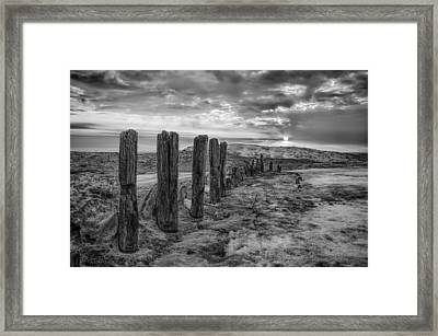 Morning On The Ice Framed Print by Mike Burgquist