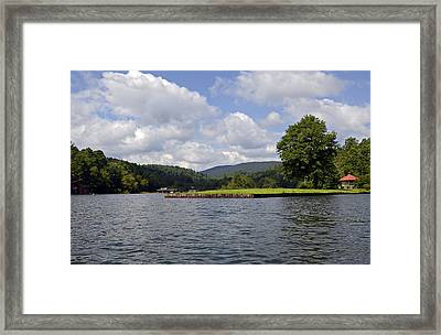 Morning On The Lake Framed Print by Susan Leggett
