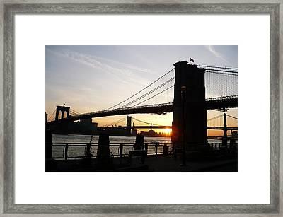Morning On The Manhattan Side Framed Print