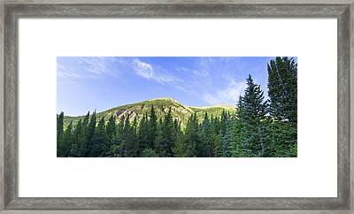 Morning On The Mountain Framed Print by Mark Andrew Thomas