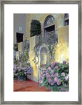 Morning On The Palazzo Framed Print