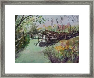 Morning On The Sheep Farm Framed Print
