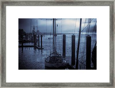 Morning On The Siuslaw Framed Print by Michael Connor