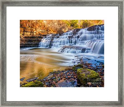 Morning On The Upper Falls Framed Print