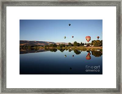 Morning On The Yakima River Framed Print by Carol Groenen