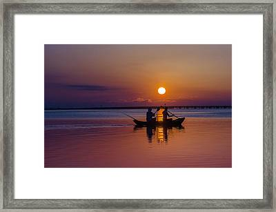 Framed Print featuring the photograph Morning Outing by RC Pics
