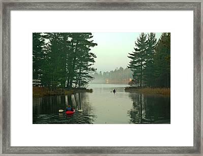 Morning Paddle Framed Print by RJ Martens