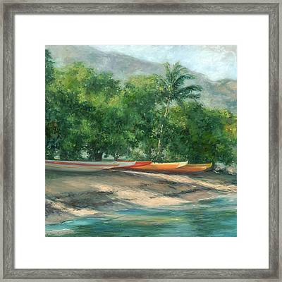 Morning Paddle Framed Print by Stacy Vosberg